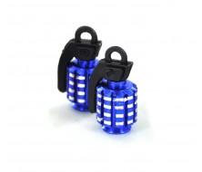 Bouchon de Valve CNC Bleu Grenade