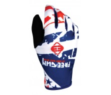 Gants FREEGUN Kid USA Bleu/Rouge