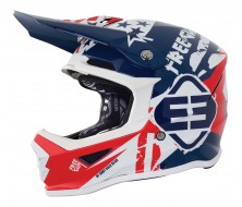 Casques Kid USA Bleu/Rouge