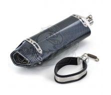 Silencieux Echappement Inox Carbon Twpo 31mm/38mm
