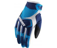 Gants Cross THOR Spectrum Bleu Blanc (S,M,L)