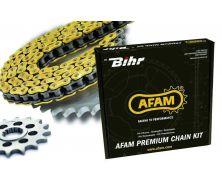 Kit chaîne AFAM 420 type R1 15/32 Yamaha PW80