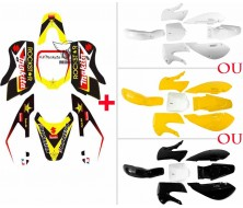 Pack Kit Plastique + Deco KLX Makita/Rockstar