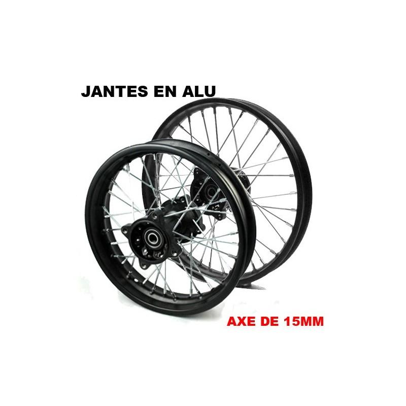 roue de jante 12 14 en alu pour dirt bike pit bike. Black Bedroom Furniture Sets. Home Design Ideas