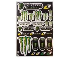 Planche de Stickers Monster Energy pour Dirt Bike, Pit Bike