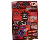 Planche de Stickers FOX pour Dirt Bike