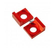 Tendeurs alu de chaîne CNC Rouge 12mm