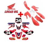 Pack Nstyle KLX Honda/Lucas Oil (Déco + Plastique)