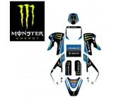 Graphics Kit Monster Energy Blue Edition KLX