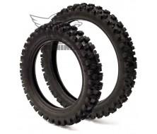 """Pack de pneu Cross 12"""" + 14"""" Guangli pour Dirt Bike"""
