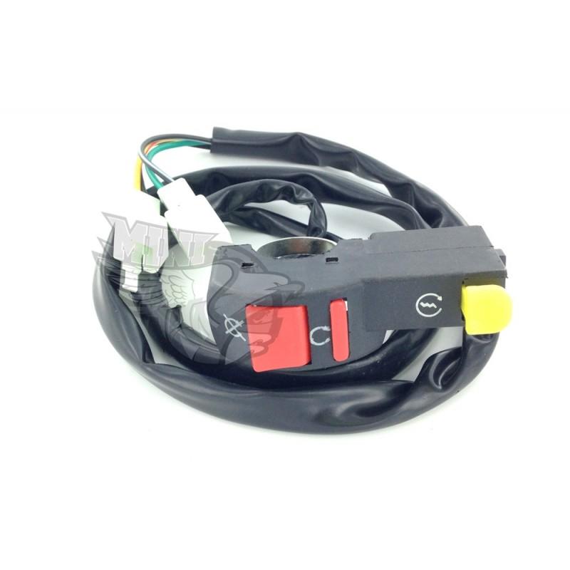 coupe circuit on off avec d marreur electrique pour dirt bike pit bike. Black Bedroom Furniture Sets. Home Design Ideas