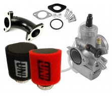 Pack Carburateur MOLKT 26 + Filtre à Air UNI pour Dirt Bike