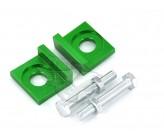 Tendeurs alu de chaîne CNC Vert 15mm