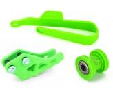 Kit Vert Protection de Bras, Guide Chaine, Roulette de Chaine