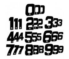 Numero de Plaque YCF 18cm (vendu par 3)