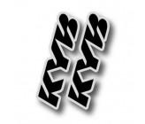 Stickers de Fourche KAYABA pour Pit Bike