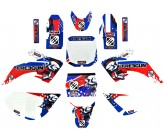 Kit Décoration CRF50 FREEGUN US Rouge bleu 2015