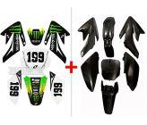 Pack Kit Monster Energy CRF70 (Deco+Plastique)