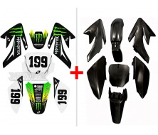 Pack Kit Monster Energy CRF70 (Deco+Plastique)