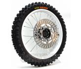 "Complete Wheel 14"" Front KENDA CARLSBAD White (Axle 15mm)"