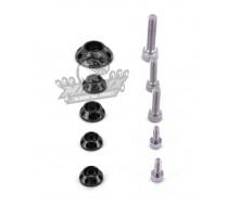 Kit Rondelle Noir CNC YCF pour réservoir et kit plastique