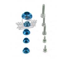 Kit Rondelle Bleu CNC YCF pour réservoir et kit plastique