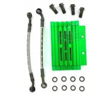 Radiateur Aluminium Vert CNC