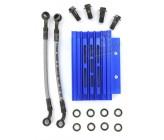 Radiateur Aluminium Bleu CNC