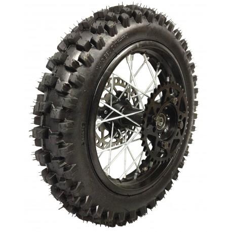 roue compl te 14 arriere noir axe de 15mm pour dirt bike pit bike. Black Bedroom Furniture Sets. Home Design Ideas