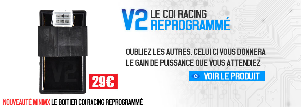 Boitier CDI racing reprogrammé pour booster votre dirt bike pit bike minimx